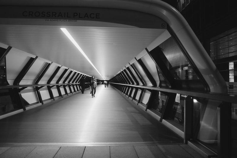 Walkway leading to subway station