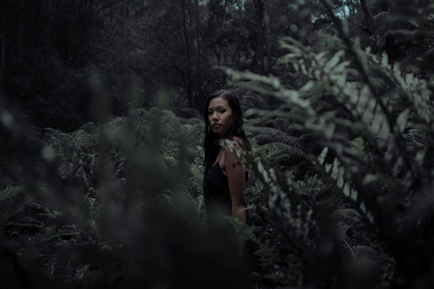 Adult Adults Only Beautiful Woman Beauty Day Forest Looking At Camera Nature One Person Outdoors People Portrait Portrait Of A Woman Portraits Real People Standing The Portraitist - 2017 EyeEm Awards Tree Women Young Adult Young Women