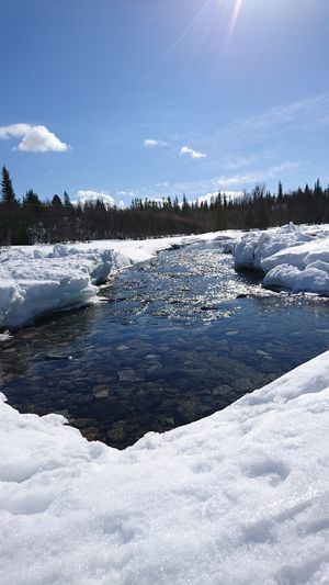 Sun Snow Water Blue Sky Springtime Beautiful Day