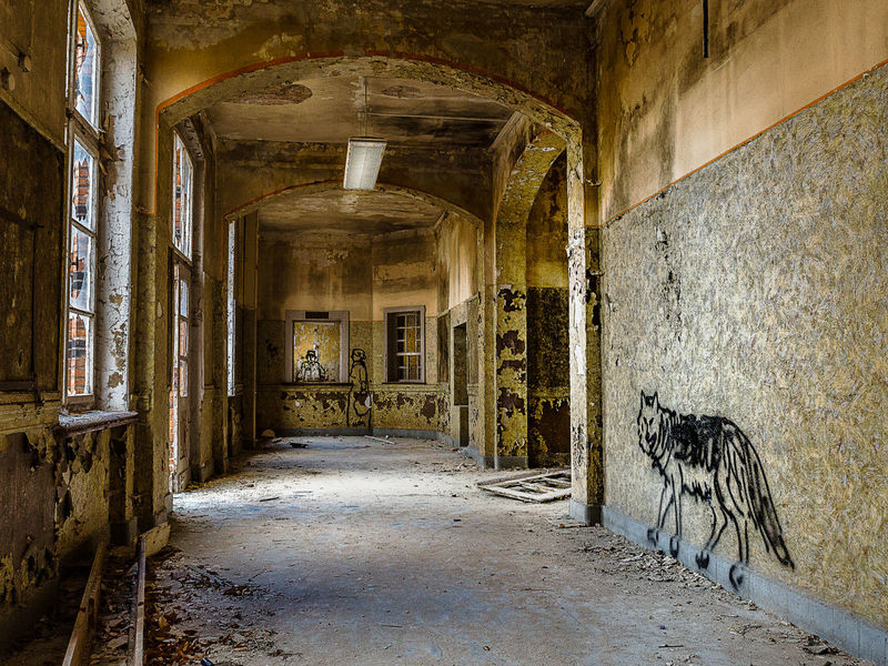 Railroad Station Arch Architecture Bad Condition Built Structure Deterioration History Old Room Decor Ruined Wall Wolf