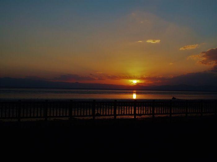 Sunset Sea Sun 夕日 干潟よか公園 Be. Ready.