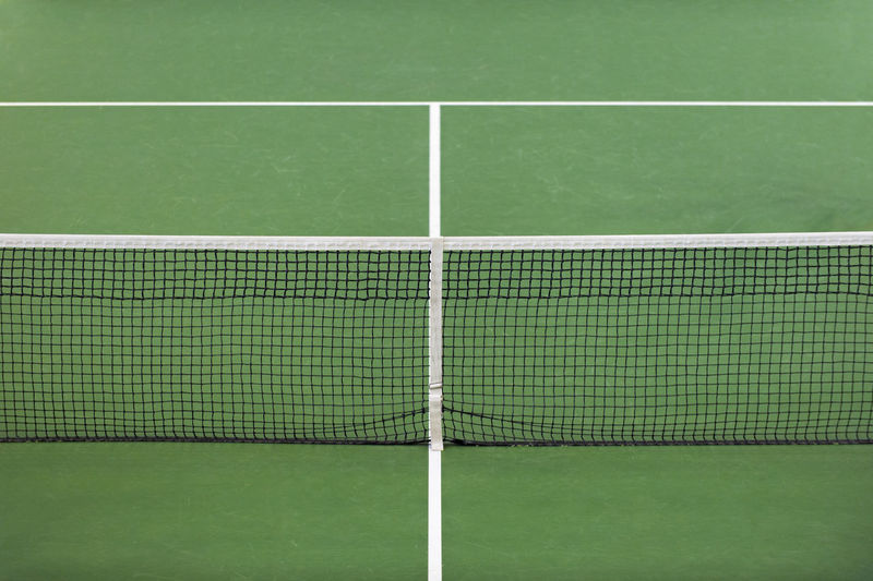Absence Backgrounds Competition Copy Space Court Empty Grass Green Color Leisure Activity Net - Sports Equipment No People Outdoors Recreational Pursuit Relaxation Single Line Sport Sports Venue Tennis Tennis Net White Color