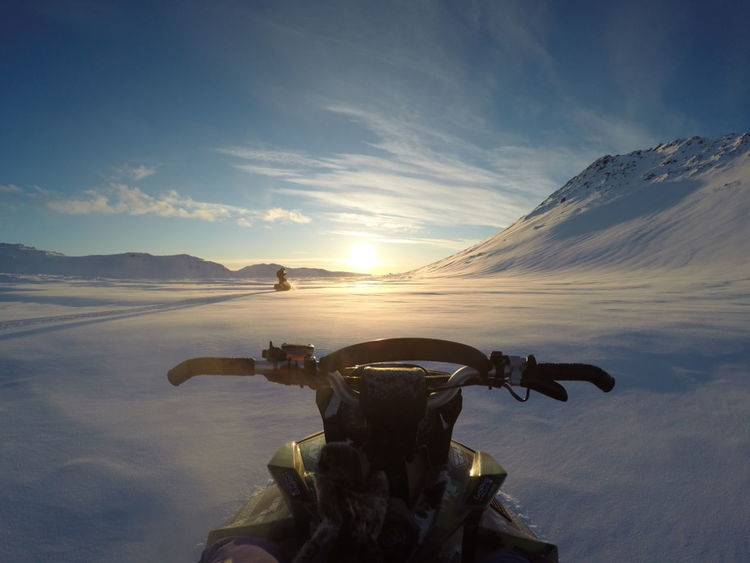 Beauty In Nature Mountain Nature Nature Outdoors Snow Snowmobiling Sunlight Sunset