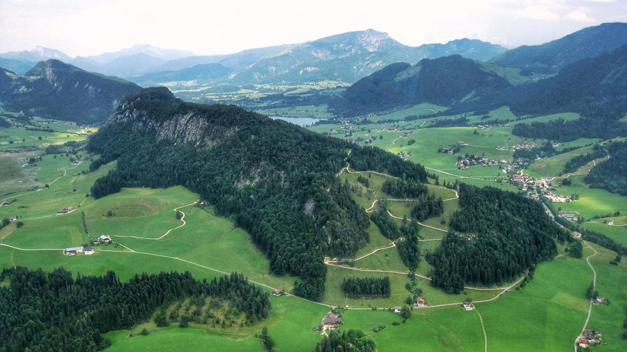 Grass Green Color Outdoors Soccer Mountain Nature Landscape Sport Day Tree Soccer Field People Beauty In Nature Austria Birds Eye View Miesberg Walchsee Durchholzen