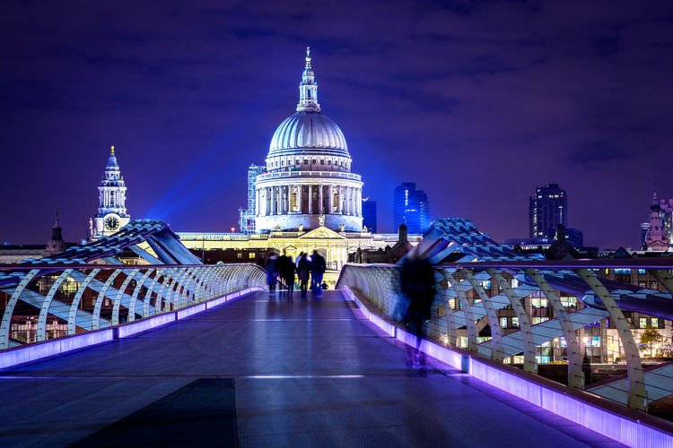 Architecture Building Exterior Dome Illuminated London Long Exposure Neon St. Paul's Cathedral The Street Photographer - 2017 EyeEm Awards Travel Destinations