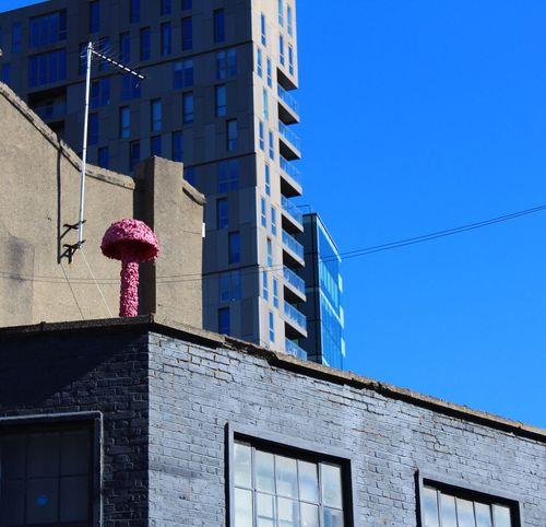 🍄 Architecture Blue Building Shoreditch London Colors