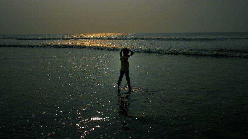 People Sea Beach Water Nature Day Sand Puribeach Alone Boy Alone Mobilephotography Odisha India Puri Odissa Beach Boy Boy Enjoying The Moment Indiaclicks Trip Photo Light And Shadow Indiacliks Yourshot_india