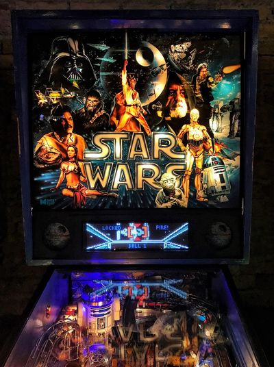 """""""Ever since I was a young boy I've played the silver ball"""" Pinball Arcade Chicago Logansquare Starwars"""