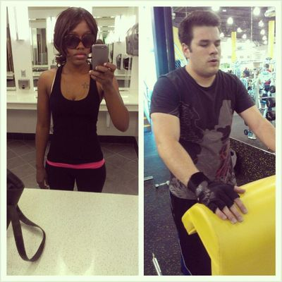 My husband and I #hitthegym today for the first time in a week. #gb3 #gym Gym Hitthegym Gb3