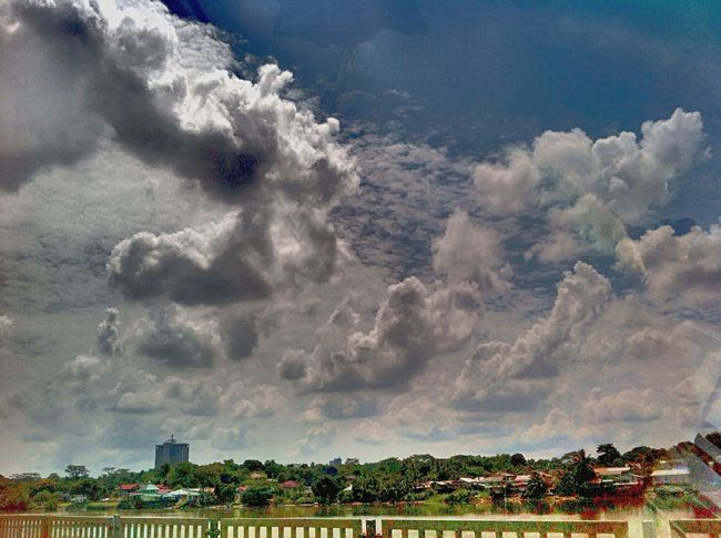 Kuching#borneo#sarawak Kuching Sky And Clouds Taking Photos Frommycar Afternoonsky Clouds And Sky