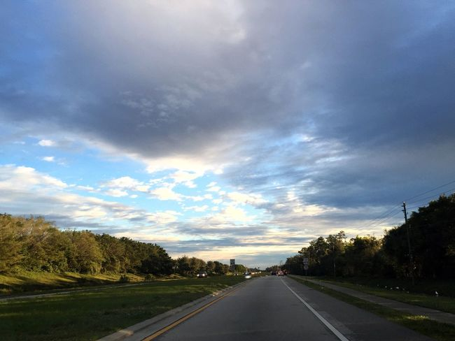 Sky Clouds And Sky Morning Drive To School Florida Winter Sunrise CarRides