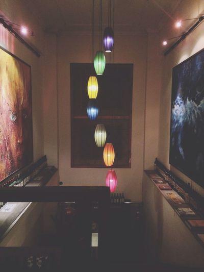 Illuminated lamp at home