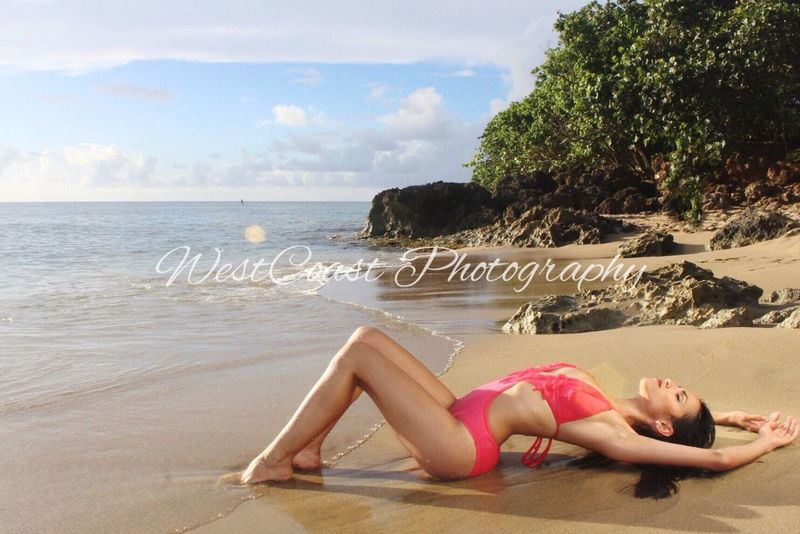 Swimsuit model Swimsuit Model Beach Photography Puerto Rico Sunset Beach