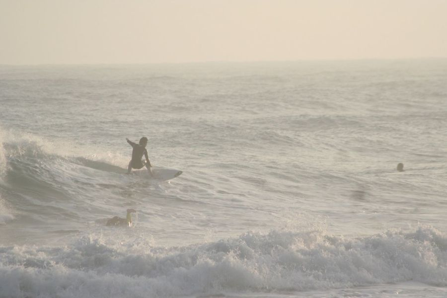 Tahara Aichi Japan Sea Water Real People Leisure Activity Aquatic Sport Motion Wave Horizon Over Water Outdoors Horizon Nature Waterfront Men One Person Lifestyles Surfing Skill  Beauty In Nature Sport Sky