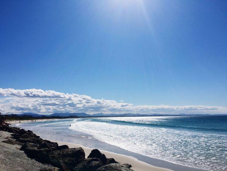 Beachphotography Beach Photography Beautiful Day Sea And Sky Beach Life Blue Sky Blue Sea Sunshine Sea_collection Byronbay Beachlife Beachin
