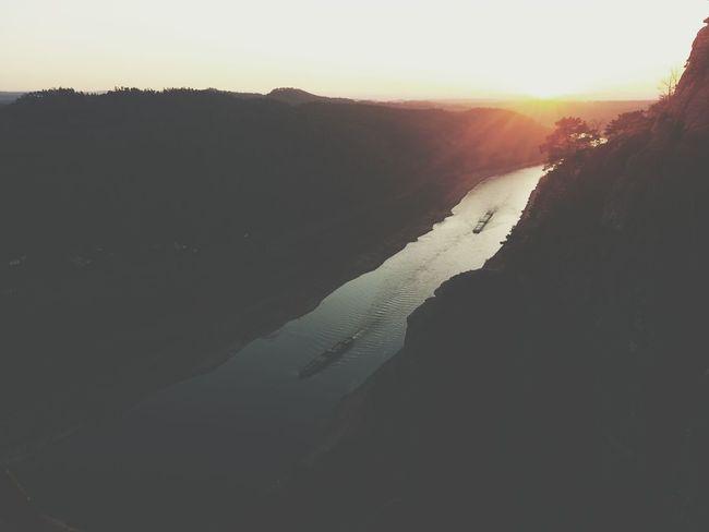 A beautiful Sunset and an Amazing View . Landscape Sächsische Schweiz