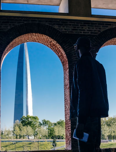 Stl, arch, riverfront Architecture Built Structure Monument Sky