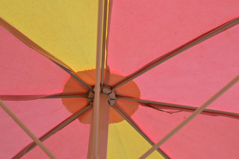 Abstract Abstract Photography Backgrounds Close-up Day Full Frame Indoors  No People Parasol Pattern, Texture, Shape And Form Patttern Pink Color Protection Red Shelter Summer Summertime Umbrella Yellow And Pink Yellow Color