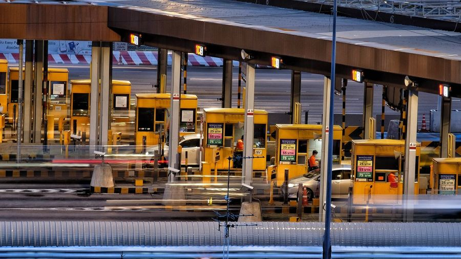 Toll Station. Zero down time, Operate 24/7. Tollstation Tollway Built Structure City 24/7 Transportation Cars Traffic Traillights