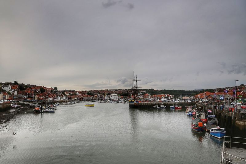 Whitby Whitby Abbey Whitby Bram Stoker Water Nautical Vessel Transportation Architecture Mode Of Transportation Building Exterior Built Structure Sky Cloud - Sky City Moored Harbor River Nature Waterfront Travel Day Pier Outdoors Marina Passenger Craft Port Sailboat