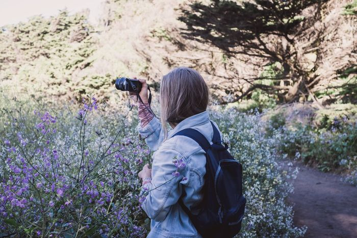 San Francisco Travel USA Wanderlust Woman Beauty In Nature Flower Nature Outdoors Photographing Road Trip