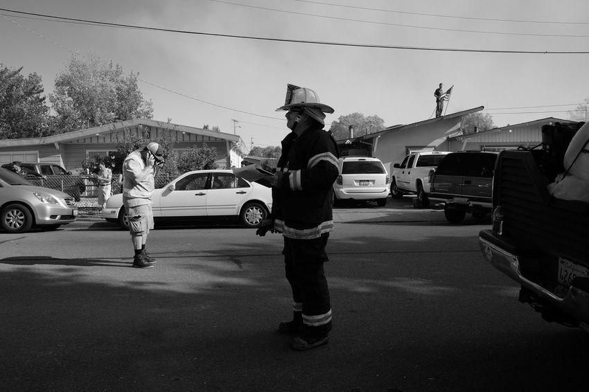 Petaluma. September, 2016. Petaluma CA Fire FujifilmX_US