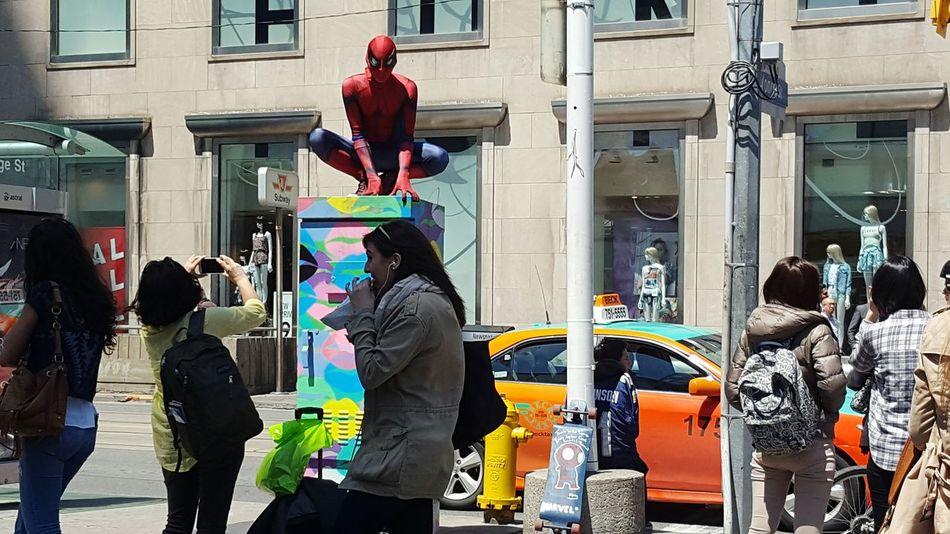 Spider-man Downtown Toronto Yongedundas The Street Photographer - 2016 EyeEm Awards