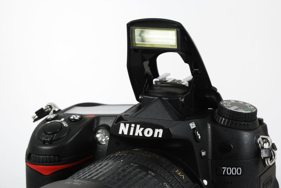 Nikon D7000 with pop-up flash. Camera Close-up D7000 Nikon Nikonphotography Photography Themes Pop-up White Background