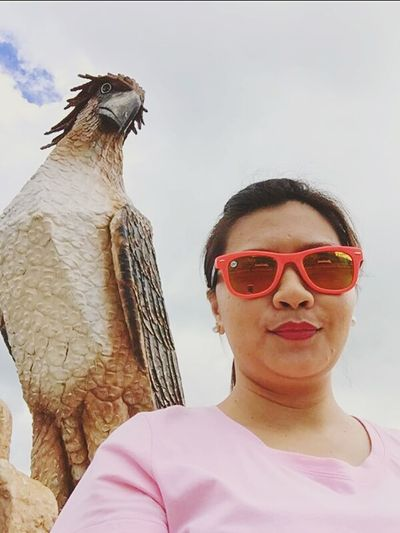 selfie with eagle lols