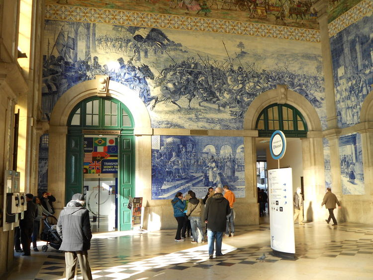 Architecture Mosaic Mosaic Art Mosaic Tiles Porto Portugal Train Station Travel Travel Destination Travel Destinations Traveling