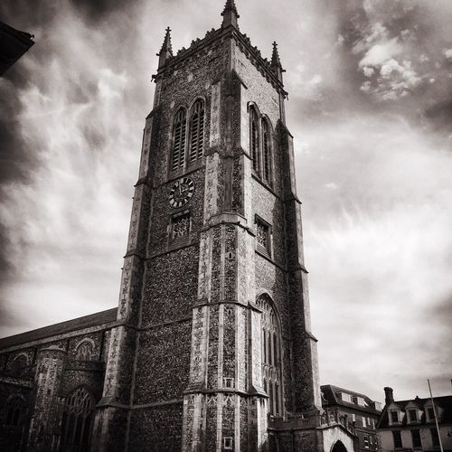 Cromer church. Today's adventure. Church Churches Cromer Beach Blackandwhite Norfolk Showcase April Hanging Out Adventure Trip Trip Photo Hello World Check This Out Dramatic Lighting Dramatic Black And White