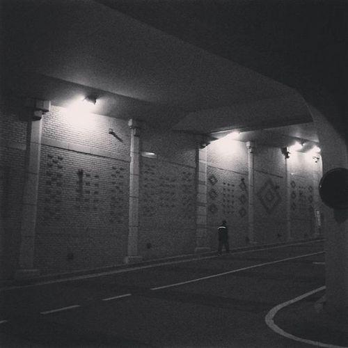 With Polaroid Snap 내가찍음 Polaroid Polaroidsnap Unprocessed Road Tunnel Blackandwhite 폴라로이드 폴라로이드스냅 무보정 흑백 터널 도로