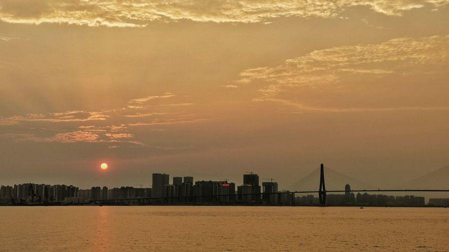 Sunset along