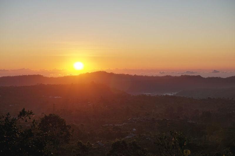 Beauty In Nature Day Fog Landscape Mountain Mountain Range Nature No People Orange Scenics Sun Sunrise Tranquil Scene Tranquility