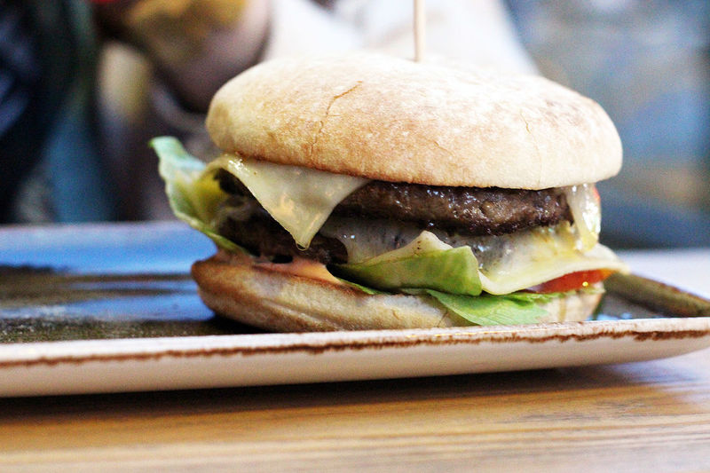 Close-Up View Of Fresh Burger Sandwich