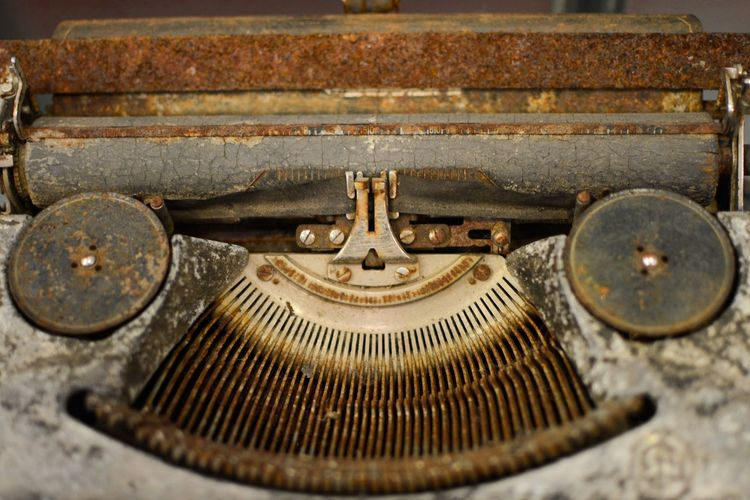 Letter Letras Mecanismo Antiguedad Maquina De Escribir Antiguo Oxidado Mechanical Old Typewriter Typewriter Old Metal Antique Rusty Retro Styled