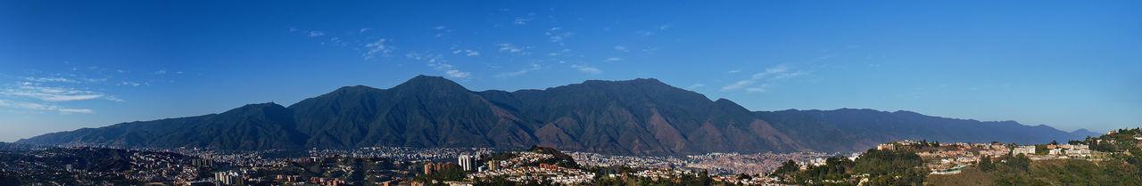El Avila .Caracas Venezuela Architecture Beauty In Nature Blue Building Exterior City Cloud - Sky Environment Land Landscape Mountain Mountain Peak Mountain Range Nature No People Outdoors Panoramic Plant Scenics - Nature Sky Travel Destinations Tree