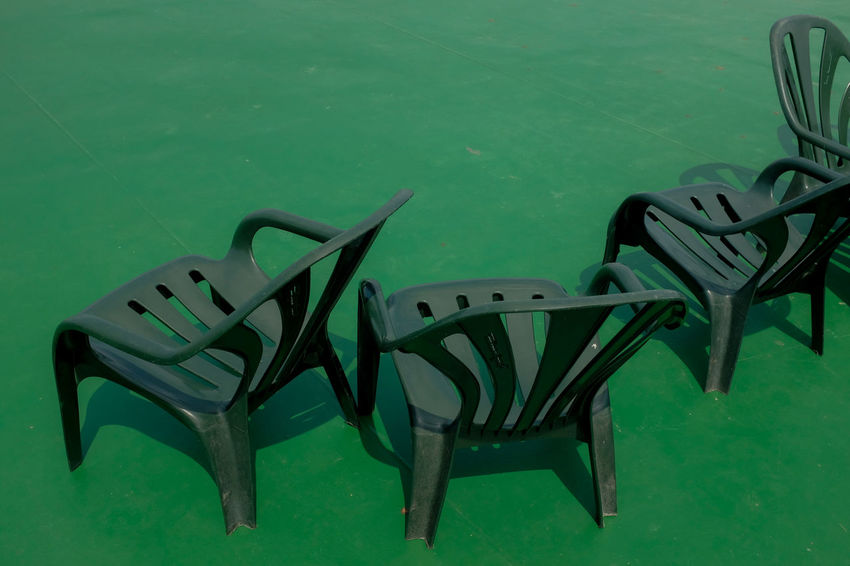 Chairs no. 2 Green LINE Shape Abstract Chair Chairs Colour Empty Green Color No People Row Seat Still Life The Still Life Photographer - 2018 EyeEm Awards