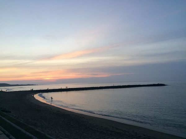 Dusk Water Sea Sky Tranquility Beauty In Nature Scenics - Nature Sunset Beach Outdoors