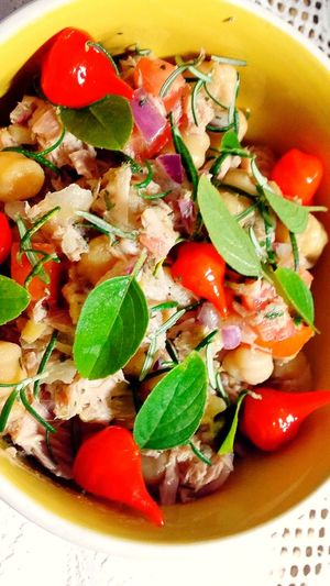 Salad Fish Food Foodphotography Hungry Starving Have A Lunch Eating Peper Red Pepper Onions Tuna Salad