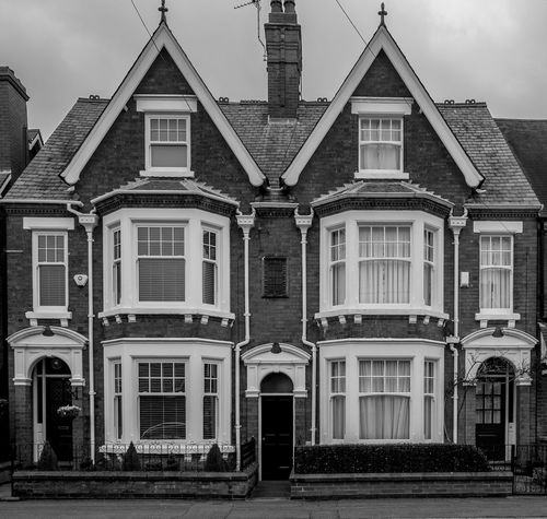 Pair of Edwardian Villas, Elsee Road, Rugby, Warwickshire Architecture Black And White Rugby FUJIFILM X-T10 Rugbytown Warwickshire Monochrome Edwardian