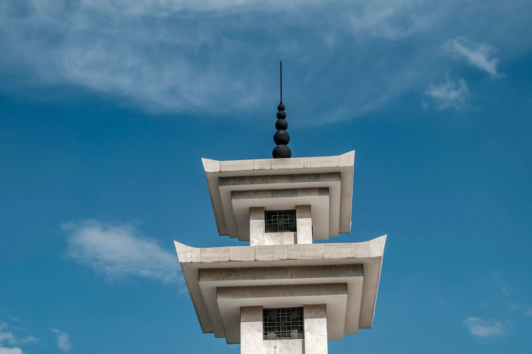 Low angle view of a korea building