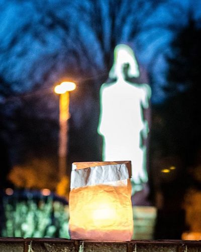 Yesterday was the Feast of the Immaculate Conception. We set up Luminaria. ImmaculateConception Catholicfeastday Catholic SaintMary