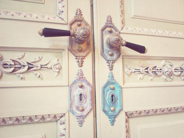 Monza Doors Italia Italy Villa Reale Monza Villa Reale Doorknob Decorated Pastel Colors Royal