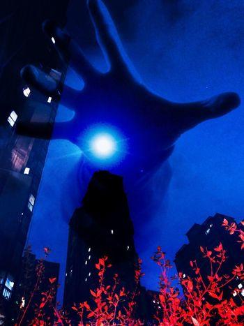 来自深夜的灵魂 Illuminated Architecture Sky Lighting Equipment Celebration Building Exterior EyeEmNewHere