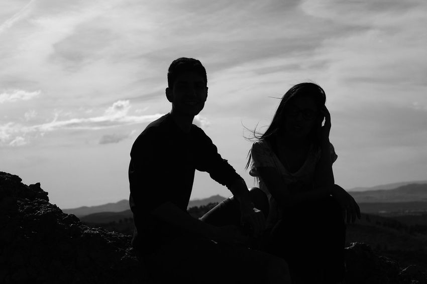 Silhouette Two People Adult Togetherness People Heterosexual Couple Adults Only Friendship Men Mid Adult Men Leisure Activity Young Adult Young Men Bonding Couple - Relationship Happiness Day Only Men Sky Outdoors Morocco Oujda Tourism Sidi Maafa