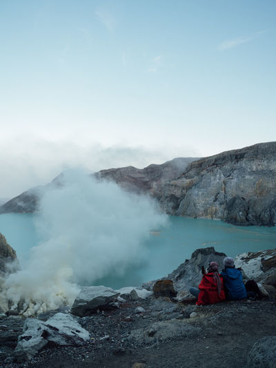 Mountain Sky Landscape Rock Volcano Geology Power In Nature Outdoors Couple Couple Goals Traveller Togetherness Honeymoon Adventurous Soul Adventurousness Trekking Ijen Ijen Crater Sulphur Spring Hot Spring Dangerous Danger Banyuwangi INDONESIA Kawah Ijen #NotYourCliche Love Letter