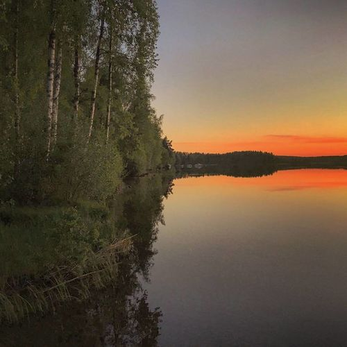 Calm Reflection Water Lake Sky Nature Outdoors No People Summer Photography Something Beautiful Photographer Nature Photography Naturelovers Naturebeauty Finnish Nature Colourful Landscape_photography