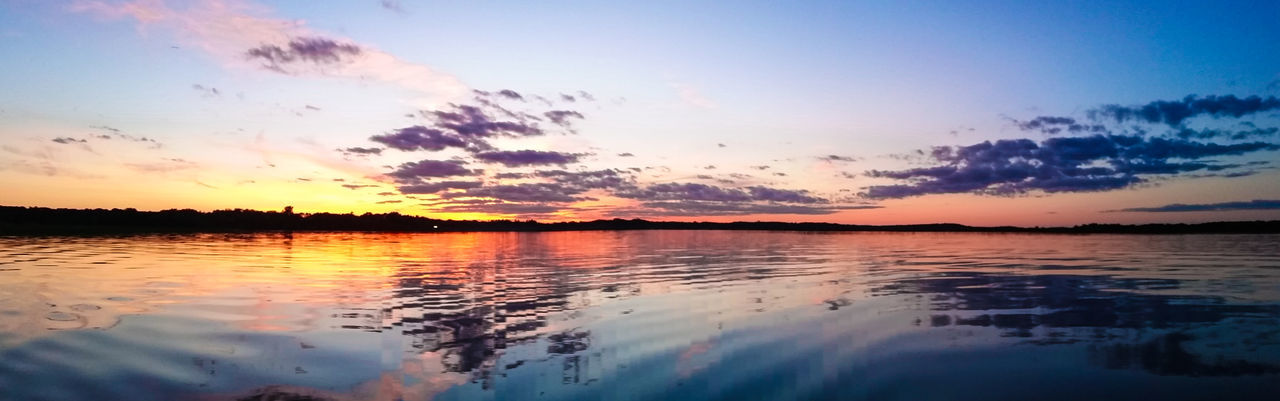 sunset, beauty in nature, sky, scenics, reflection, water, nature, tranquil scene, tranquility, cloud - sky, idyllic, outdoors, no people, lake, silhouette, waterfront, day