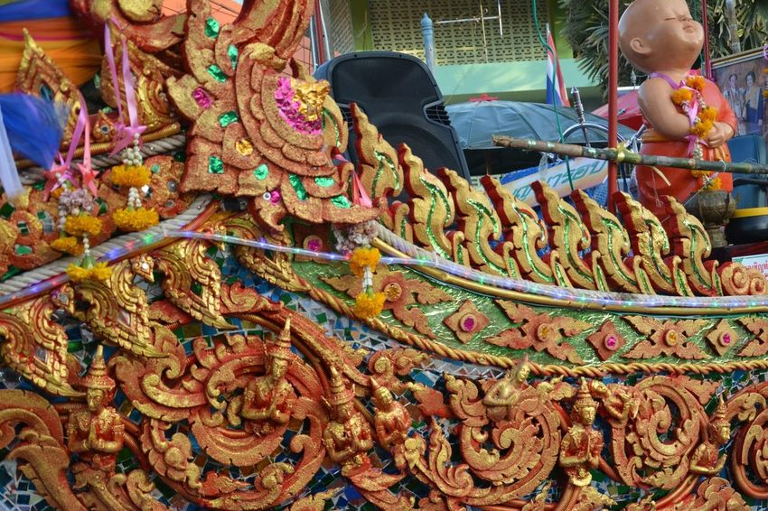 Line Thai Travel Colroful Ourdoor Pattern Backgrounds Thailand Asian  Festival Handmade Multi Colored Outdoors People One Person Day Close-up Adult